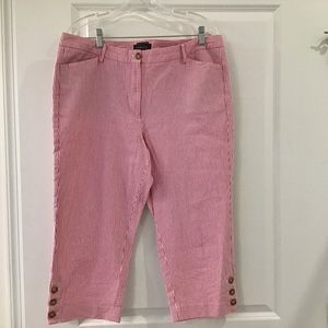 Women's Capris, Size 14, Red and White, Talbots